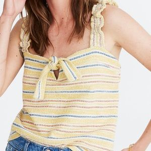 Madewell Texture & Thread Tie-Front Tank Top NWT L